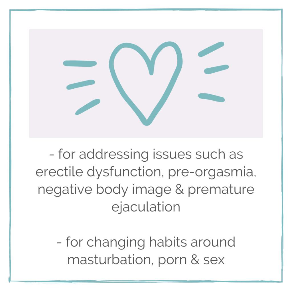 Erectile dysfunction, pre-orgasmia, premature ejaculation, masturbation